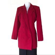 Women OMO Norma Kamali Vintage Red Boyfriend Jacket S/M