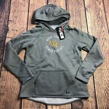 Under Armour Youth Large Wake Forest Demon Deacons Logo Hoodie Pullover New