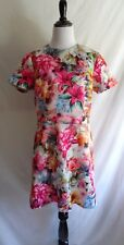 NWT Alexia Admore L Romantic Flower Print Neoprene Scuba Fit & Flare Party Dress