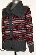 New Eddie Bauer Extra Soft Angora Sweater Reds/Grays Knit Womens Size M
