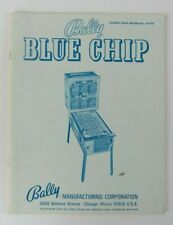 Bally Blue Chip Bingo Pinball Machine Instructions Manual and Schematics