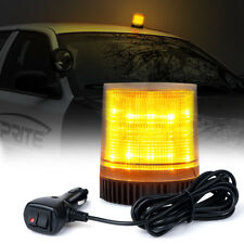 30 LED Round Rotating Beacon Roof Top Emergency Flash Strobe Warning Light Amber