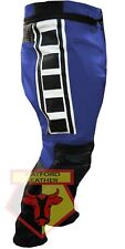 Leather Pant Yamaha 6728 Blue & Black Armoured Cowhide Motorcycle Biker Trouser