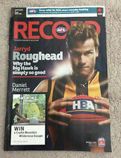 HAWTHORN Vs PORT ADELAIDE Round 4 2009 AFL Football Record Jarryd Roughead Rare