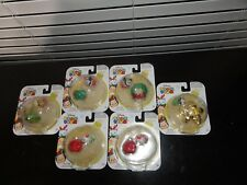 DISNEY TSUM TSUM 2016 CHRISTMAS LOT OF 6 WITH STACKABLE HOLIDAY ACCESSORIES
