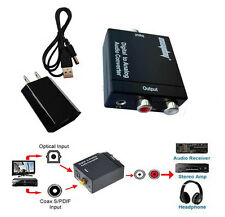 3.5mm Optical Toslink Digital Coaxial to Analog RCA L/R Audio Converter Adapter