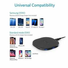 Anker 10W Wireless Charger, 10W Fast-Charging,Qi-Certified,(No AC Adapter)