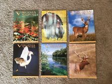 Hunting & Fishing Lot of 6 Virginia Wildlife Magazines Outdoors Nature Photos