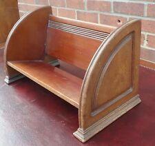Edwardian antique Arts & Crafts solid mahogany desk top book shelf rack bookcase