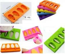 POPSICLE TRAY 4 Cavity Silicone Mould: DIY Icypoles, Popsicles, Soap - Easy