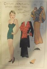 Blondie Sunday by Chic Young from 4/22/1934 Rare Paper Doll Full Page Size !