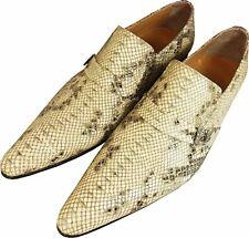 ORIGINAL Chelsy Designer Cuir de veau python sandales homme Python Motif 41