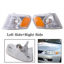 Fits 01-02 Toyota Corolla Corner Light Turn Signal Left Driver+Right Passenger