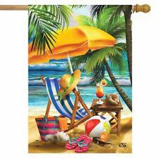 "Welcome To Paradise Beach House Flag Nautical 28"" x 40"" Briarwood Lane"