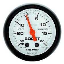 "AutoMeter 5701 Phantom Mechanical Boost/Vacuum 30 in./20 psi Gauge 2-1/16"""