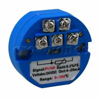 PT100 Accuracy Temperature Sensor Transmitter DC24V 0~100 Celsius output 4-20mA