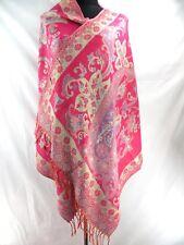 retro floral paisley gold thread viscose pashmina shawl scarf Ladies