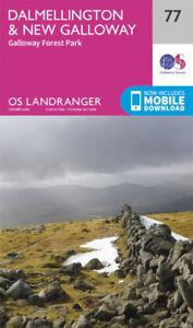 Dalmellington Galloway forest Landranger Map 77 Ordnance Survey Latest