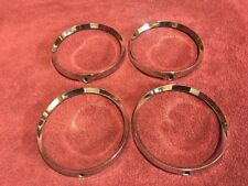 65 OLDSMOBILE DELTA 88 98 HEAD LIGHT TRIM RINGS SET OF 4 GM 589867 ORIGINAL