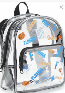 NWT. V/S  Pink Collegiate Collection Clear Mini Backpack Florida Gators.