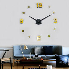 Wanduhr 100 - 130 cm 3 D XXL Uhr Selbst gestaltbare Do-it-yourself Gold Design 2