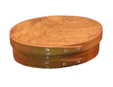 Shaker Miniature Gift Box with Cherry Bands and Teak Burl Top, Lacquer Finish