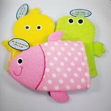 Terry Cloth Bath Puppets Baby Wash Cloth Bath Mitt Frog Duck Fish