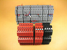 Euro -  D4-2 -  Terminal Block, 3 Colors; Black, Red and Gray (Lot of 37)