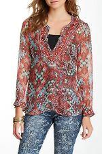 NEW $293 Custo Barcelona Sela Rococorum Sequin Silk Tunic Size 3 (M/L) NWT