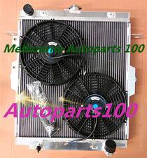 For Landcruiser radiator & Fans HDJ78 HDJ79 HZJ78 HZJ79 1HZ 4.2L Manual Aluminum