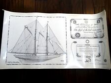 rare BLUENOSE tall ship FOLIO 32plate HUGE signed 1stEd NAUTICAL maritime SAILOR