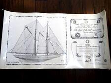 32 plates HUGE signed BLUENOSE II schooner FOLIO 1st ed NAUTICAL maritime RARE
