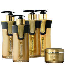 Brazilian Keratin Cure Gold Honey Bio 0 Complex Hair Treatment 4 PC Kit 10oz MA