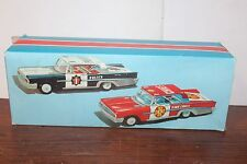 NICE 1950's/60' TIN LITHO WIND UP ITALIAN POLICE CAR, FIRE CHIEF OR SEDAN BOX