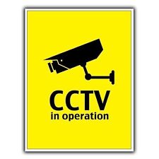 """Cámara De Seguridad CCTV en Funcionamiento-Letrero de Metal Placa de pared 8""""X6"""" 20cmX15cm"""