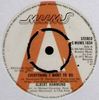 """ALBERT HAMMOND~EVERYTHING I WANT TO DO / WOMAN OF THE WORLD~1974 UK """"PROMO"""" 7"""""""