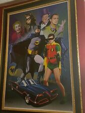 CHRISTOPHER FRANCHI BATMAN 1966 MASTERPIECE LITHO GICLEE ORIG. SIGNED RARE W COA