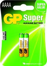 2x AAAA GP Super Alkaline Single Use Battery Batteries Mn2500 Nx11