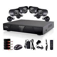 8CH DVR 600TVL CCTV Home Security 4 IR Outdoor Night Camera System Channel
