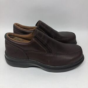Red Wing Steel Toe Shoes Leather Men's Work Safety Slip On Brown 6647 Size 6.5