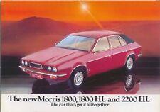 Morris 1800 1800HL 2200HL Original UK Sales Brochure No. 3135 Jan. 1975 8 page