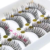 20 Pairs Cross False Eyelashes Makeup Natural Fake Thick Long Eye Lashes Fashion