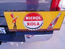 Nice original vintage 1940's NICHOL KOLA metal tin sign with toy soldier on it