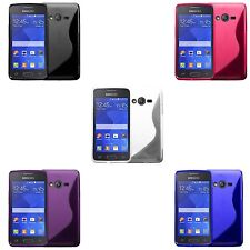 Case For Samsung Galaxy Ace 4 S-Line Silicone Gel Skin Shockproof Phone Cover