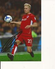 BRISTOL CITY * HORDUR MAGNUSSON SIGNED 6x4 ACTION PHOTO+COA