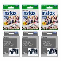 Plain & Monochrome FujiFilm Instax Wide Film Polaroid 90 Instant Photo Value Set