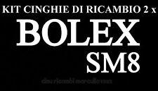 KIT CINGHIE DI RICAMBIO 2 x PROIETTORE SUPER 8 mm BOLEX SM 8 ★