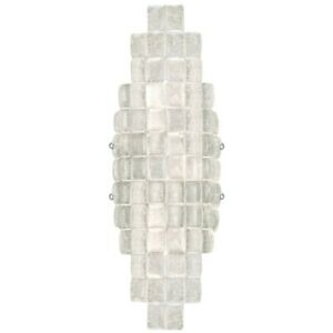 Fine Art Lamps Two Light Wall Sconce, Silver, Constructivism Collection 840850ST