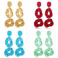 Women Long Geometric Metal Irregular Dangle Drop Stud Ear Earrings Jewelry New