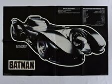 Batmobile Poster 35x23-in Specs Performance Data BATMAN 1989 movie GLOWS in Dark